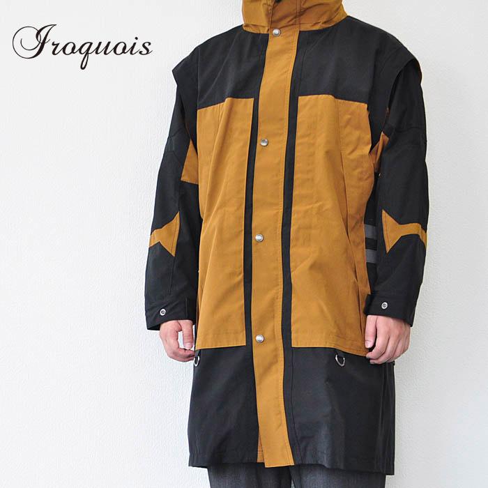 Iroquois イロコイ ジャケット T/C HIGHT COUNT WEATHER キャメル S ロングコート メンズ 782202