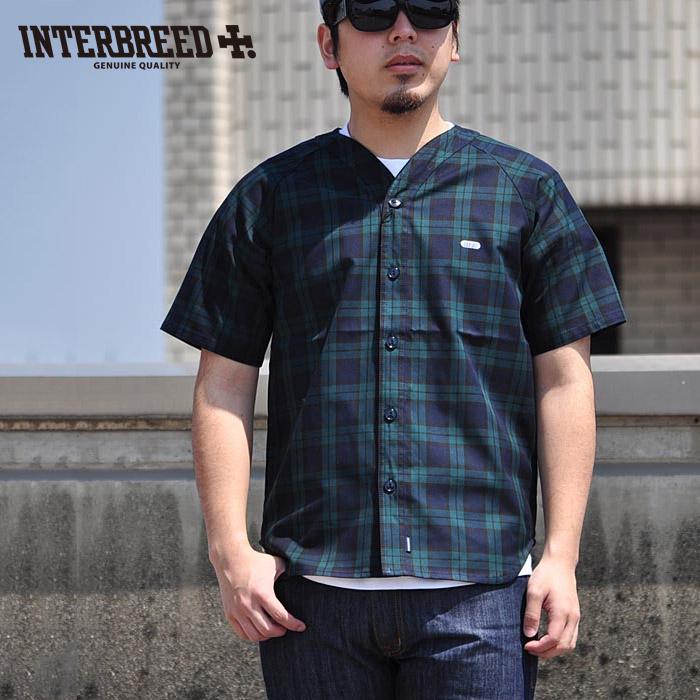 インターブリード INTERBREED ベースボールシャツ Blackwatch Baseball Shirt 半袖 IB17SS-25