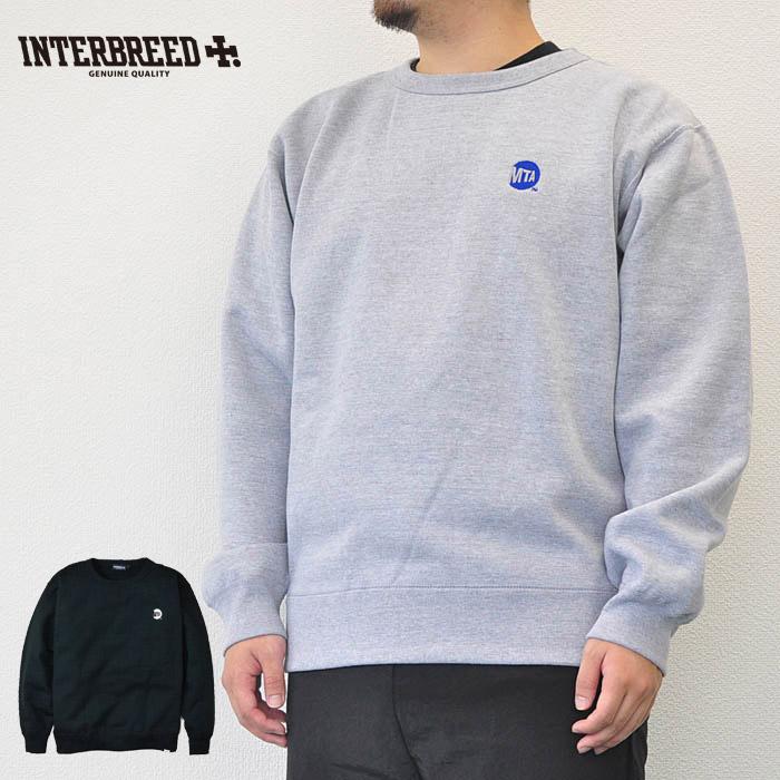 """インターブリード スウェット MTA × INTERBREED """"Uniform Logo Crew Neck"""" M-XL グレー/黒 コラボ INTERBREED IB18AW-24"""
