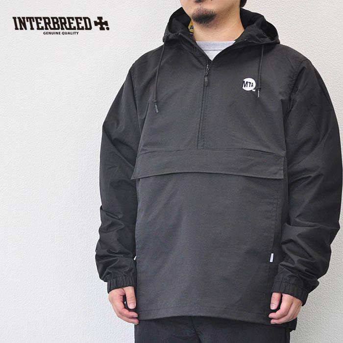 """インターブリード ジャケット MTA × INTERBREED """"Uniform Logo Anorak"""" M-XL 黒 コラボ アノラック INTERBREED IB18AW-22"""