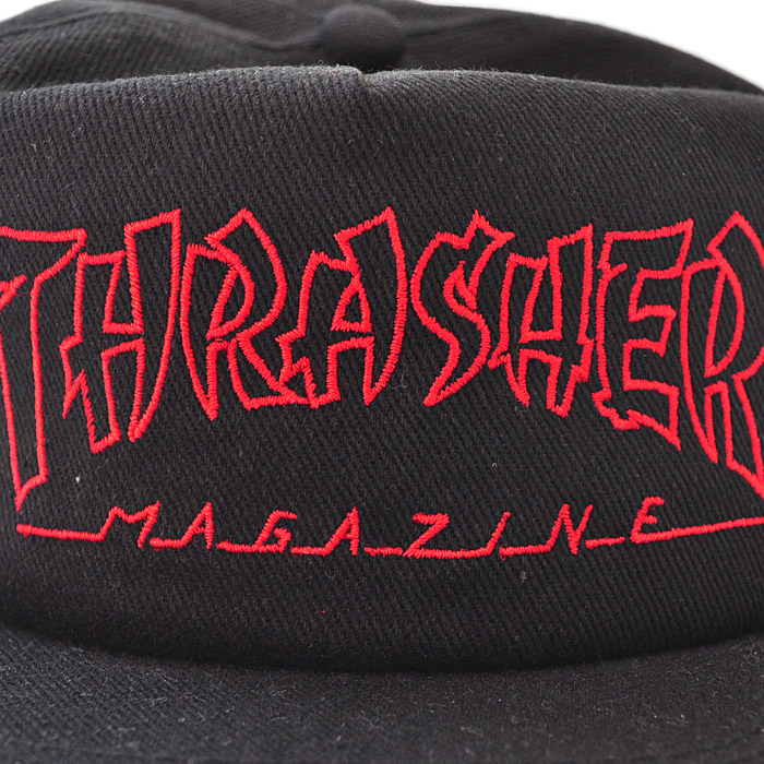 6732a2f0514 firstadium  THRASHER slasher cap CHINA BANKS SNAPBACK black logo hat ...