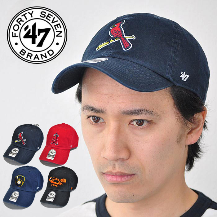 wholesale dealer eb719 1971f 47Brand 47 brand cap Angels Cardinals Orioles Brewers 47 CLEAN UP red    dark blue ...