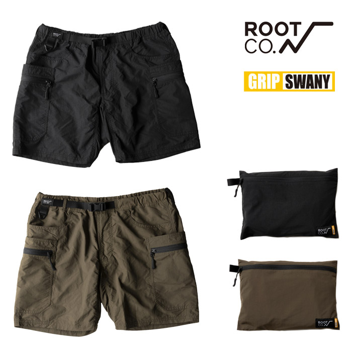 ROOT CO. GRIP SWANY グリップスワニー ギアショーツ GEAR SHORTS Collaboration Model 2nd S-XL ポーチ付き ルートコー