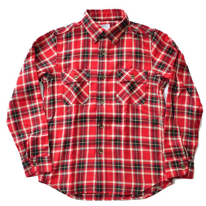 TWO MOON トゥームーン ネルシャツ Flannel shirt フランネル Lot. 720 メンズ 黒 赤 M-XL