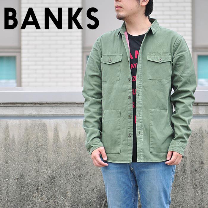 BANKS バンクス シャツ WOODMAN L/S SHIRT ワークシャツ メンズ サーフ ストリート ALS0052