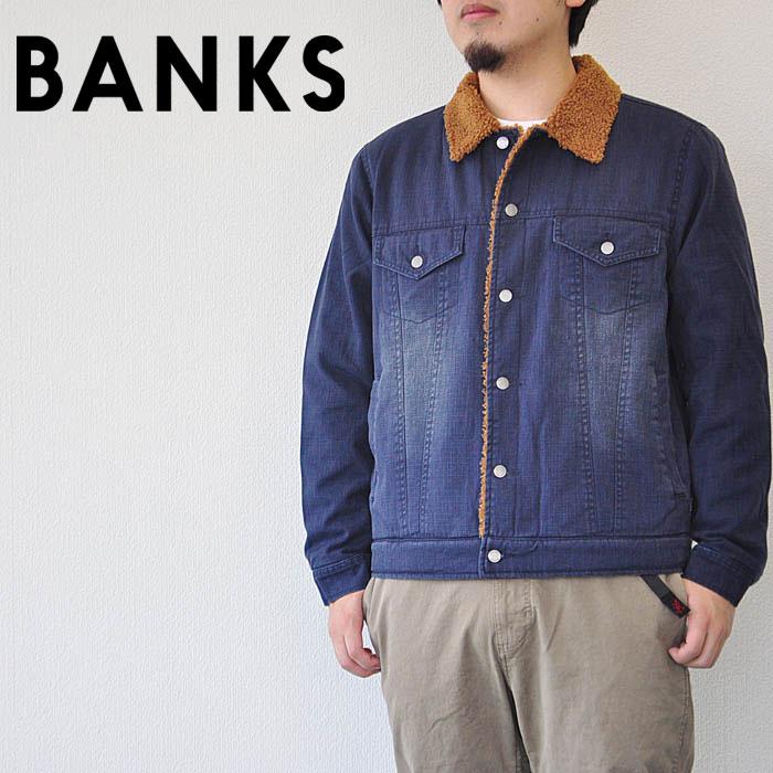 BANKS バンクス デニムジャケット Tombstone Jacket メンズ 17秋冬 紺 M-L AJT0025