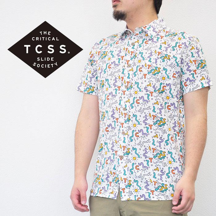 TCSS ティーシーエスエス シャツ FLARIN SS SHIRT 半袖 トップス メンズ 白 黒 M-XL サーフ ストリート SS1813