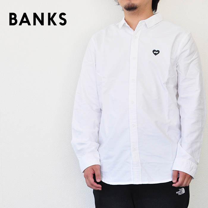 BANKS バンクス シャツ Heart String LS Woven メンズ 白 S-L ATS0067 バンクスジャーナル サーフ