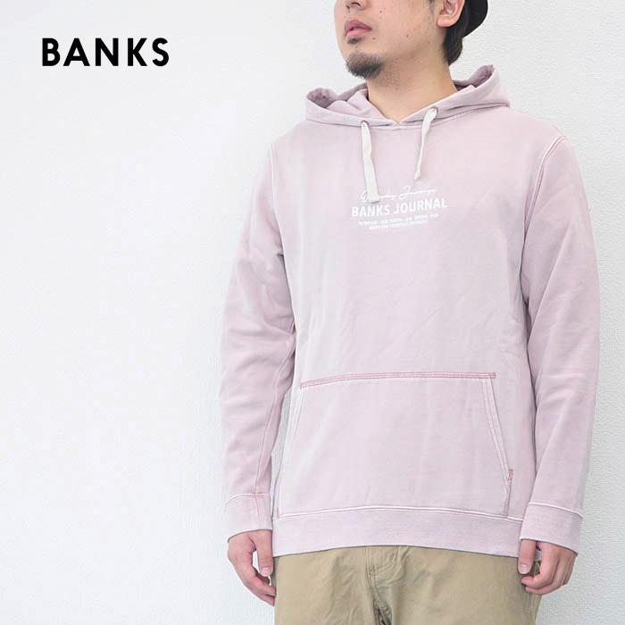 BANKS バンクス パーカー フリース フーディー TOKEN FLEECE メンズ スウェット 18秋冬 ピンク S-L AFL0134