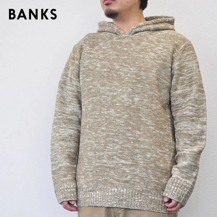 BANKS バンクス ニット パーカー UNIFORM KNIT メンズ スウェット 18秋冬 オリーブ M-XL AKN0039