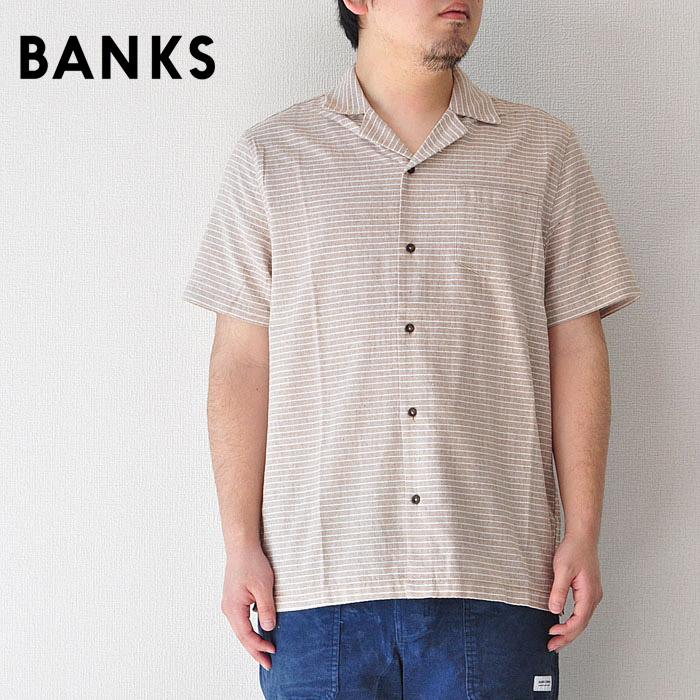 BANKS バンクス シャツ SHAMBLES WOVEN SHIRT M-L 開襟 オープンカラー サーフ メンズ ASS0081