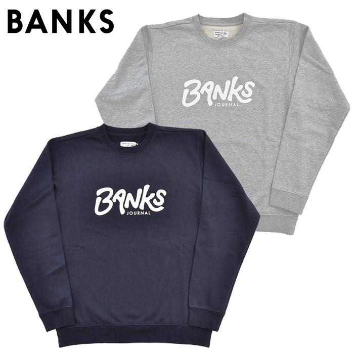 スウェット AFL0224 BANKS バンクスジャーナル S-L メンズ トレーナー FLEESE OUTRO JOURNAL 紺 グレー