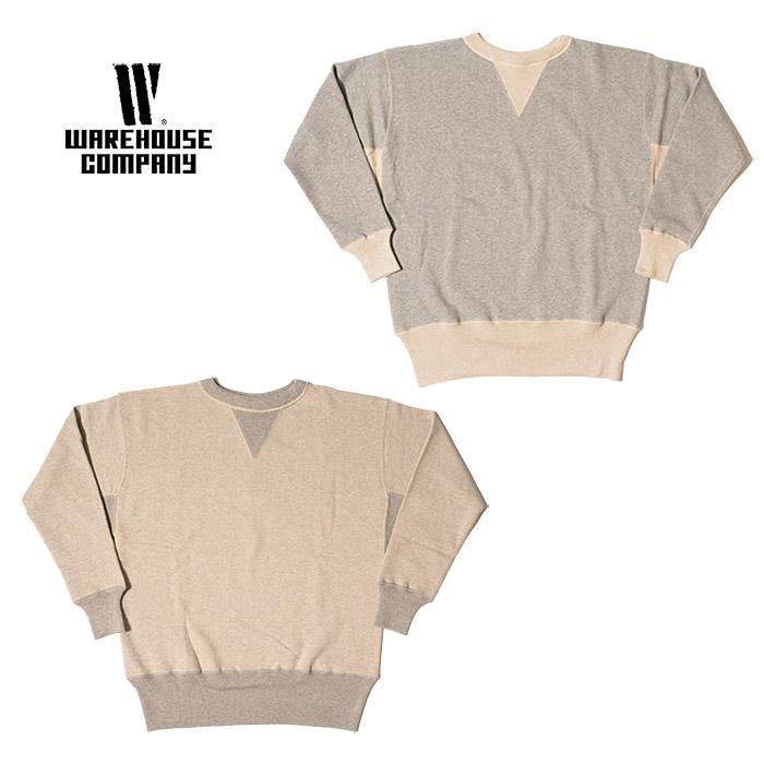 Two WAREHOUSEware house Lot 466 needle combination both V sweat shirt men 杢  gray oatmeal M-2XL d7643352c805b