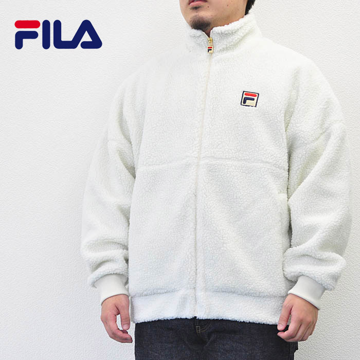 FILA Fila heritage jacket boa blouson FM9451 men boa fleece white M-XL  sports street