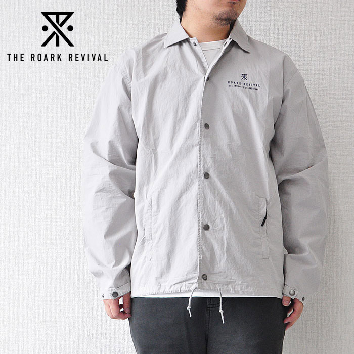 ROARK REVIVAL ロアーク リバイバル コーチジャケット WAYWARD WASHED COTTON COACHES JACKET グレー M-L RJJ500