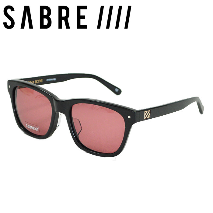 SABRE セイバー サングラス FREAK SCENE フリークシーン GLOSS BLACK/ MAROON LENS ウェリントン マルーンレンズ メガネ SV204-137J