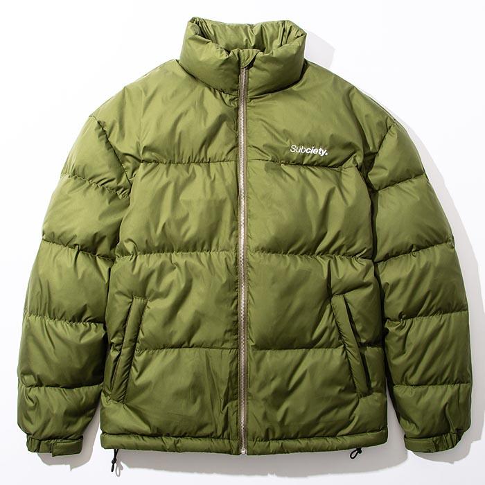 JKT SUBCIETY L-XL ダウンジャケット サブサエティ DOWN 104-62580 ストリート サブサエティー 緑