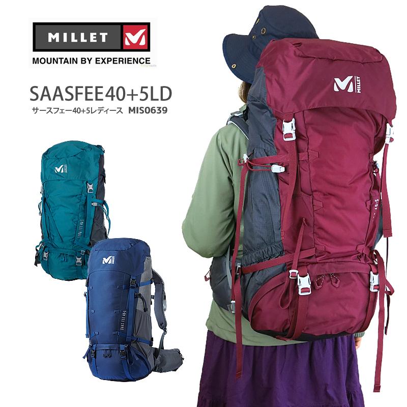 【NEW】ミレー リュック MILLET MIS0639 SAAS FEE 40+5 LD サースフェー 40+5 レディース