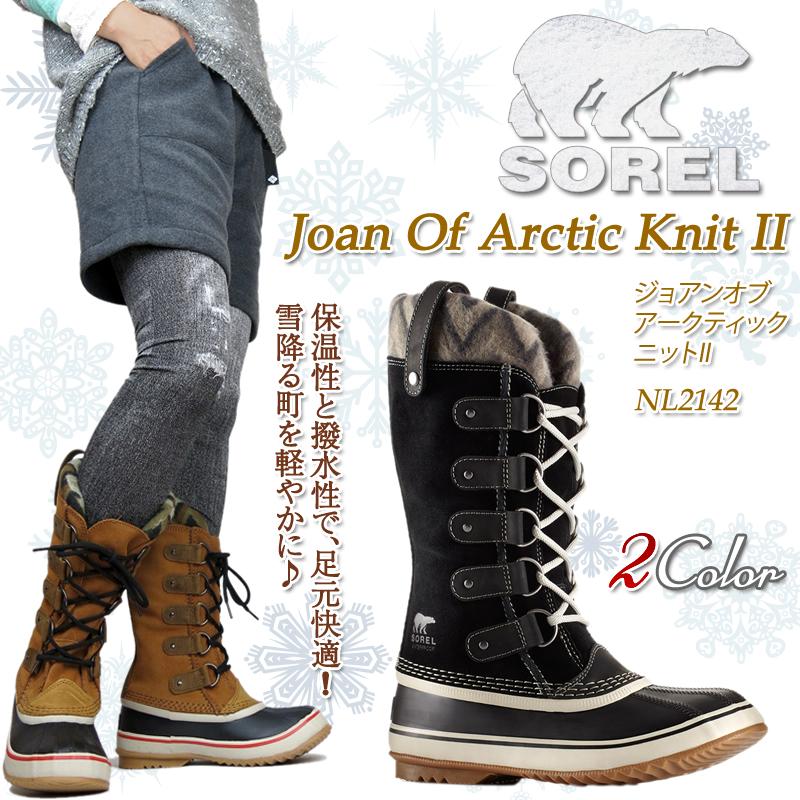 1a295920d445 FIRST LINE  SOREL Sorrel NL2142 Joan Of Arctic Knit II ジョアンオブ ...