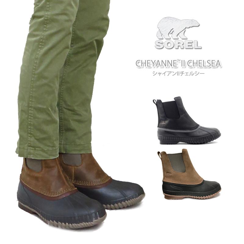 2f58515f9a1 SOREL Sorrel NM2609 CHEYANNE II CHELSEA Cheyenne two Chelsea snow boot  boots men waterproofing