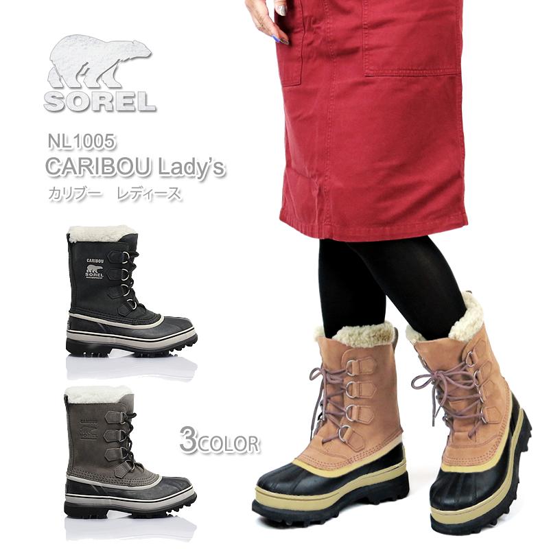 【10%OFF!】ソレル ブーツ スノーブーツ レディース NL1005 SOREL CARIBOU カリブー 防水