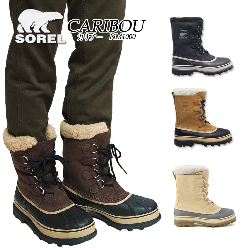 【10%OFF!】ソレル ブーツ スノーブーツ メンズ SOREL NM1000 CARIBOU カリブー 防水