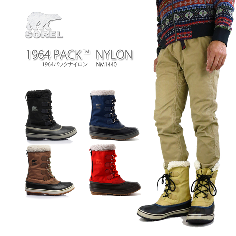 76e1d808f13 NM1440 SOREL Sorrel 1964 PAC NYLON pack nylon boots snow boot men  waterproofing
