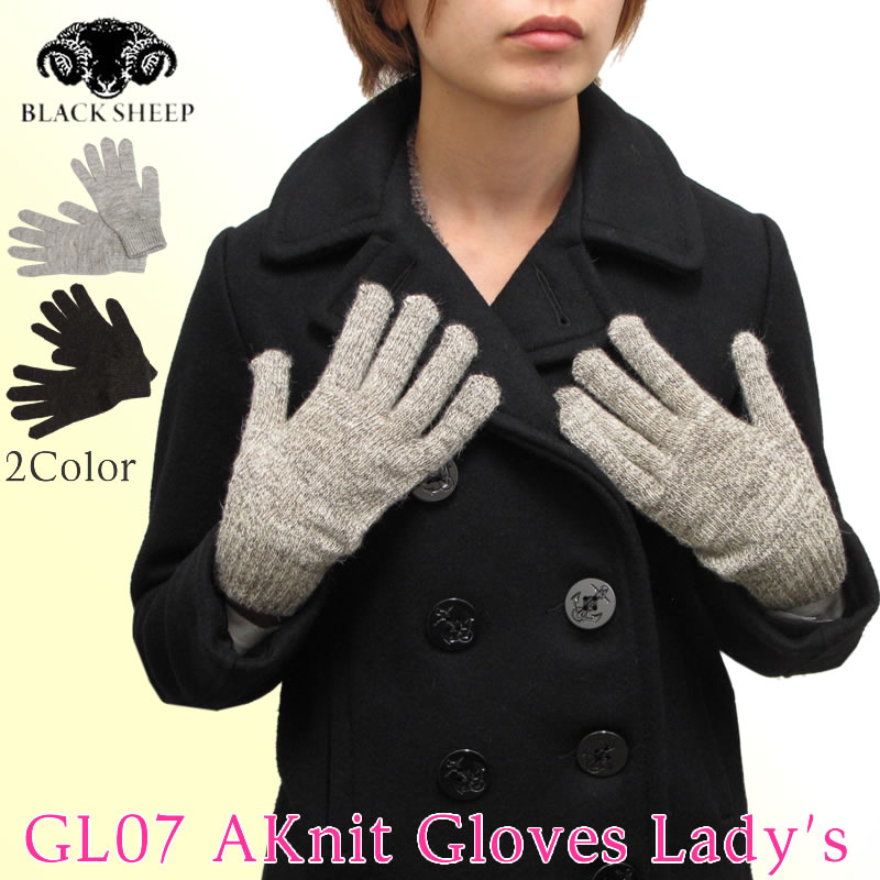 510cde98a Black Sheep black sheep GL07 Knit Gloves Lady's knitted glove hand bag gloves  ladies ...