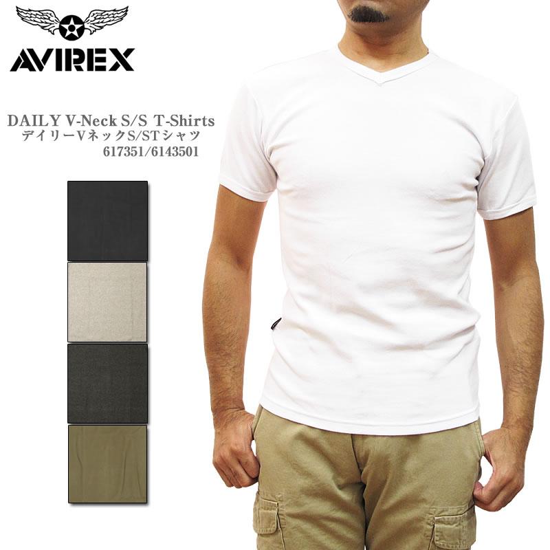 1点までゆうパケットOK リブ生地を使用 AVIREX 在庫処分 アヴィレックス アビレックス シャツ Tシャツ 激安格安割引情報満載 617351 6143501 Vネック