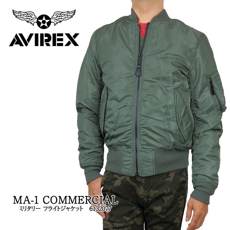 【NEW】AVIREX アビレックス ma1 6132077 MA-1 COMMERCIAL アヴィレックス コマーシャル メンズ ジャケット