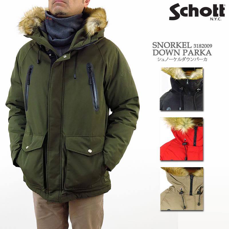 【30%OFF!】Schott ショット ダウンジャケット 3182009 SNORKEL DOWN PARKA シュノーケル ダウン パーカ パーカー ジャケット