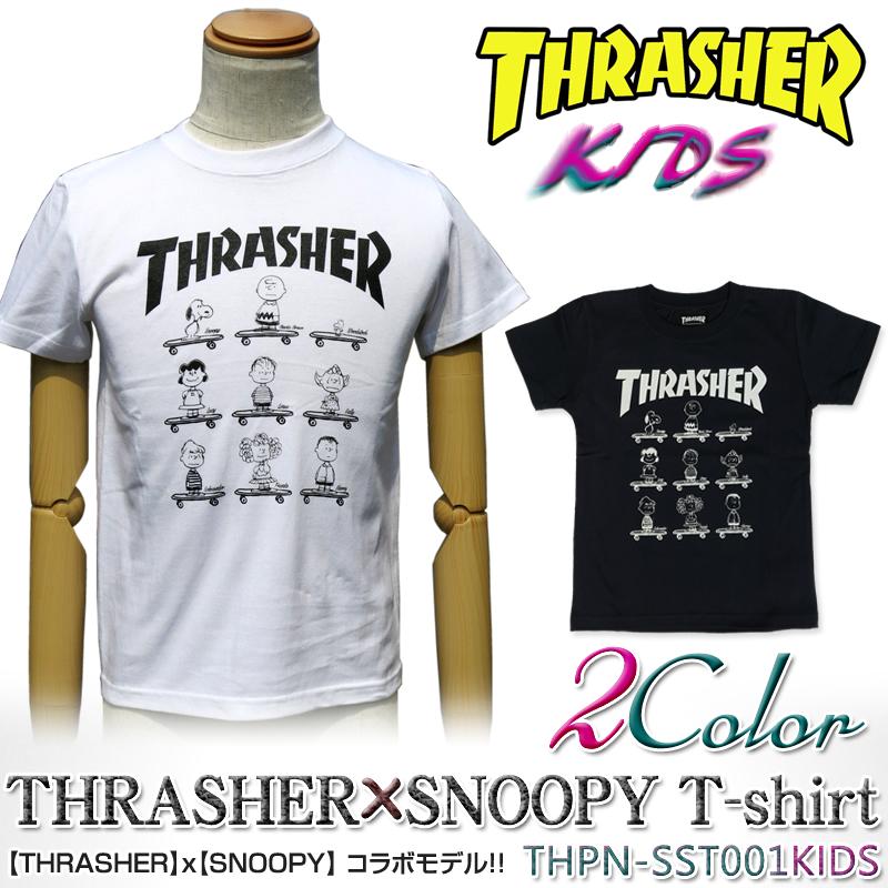 surassha×史努比协作THRASHER THPN-SST001KIDS T-Shirt SNOOPY PEANUTS花生t衬衫小孩
