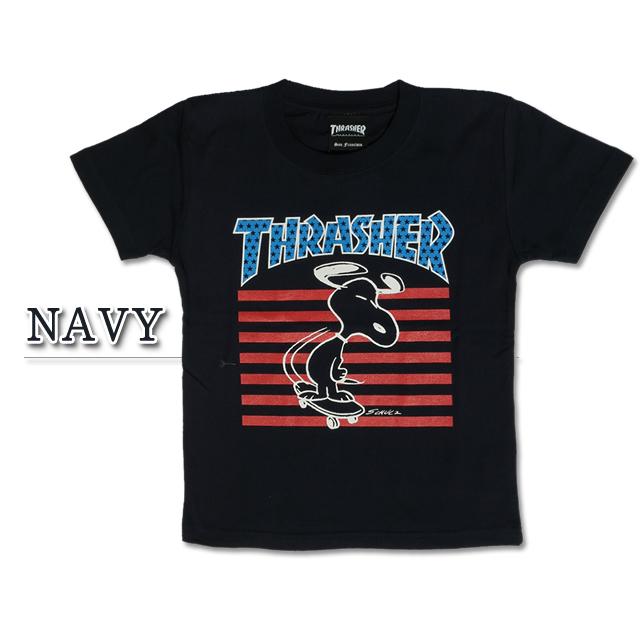 surassha×史努比协作THRASHER THPN-SST002KIDS T-Shirt SNOOPY PEANUTS花生t衬衫小孩
