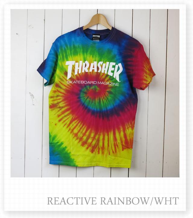 THRASHER slasher TH8101RTD MAG Tie Dye mug logo tie dyeing t shirt men gap Dis