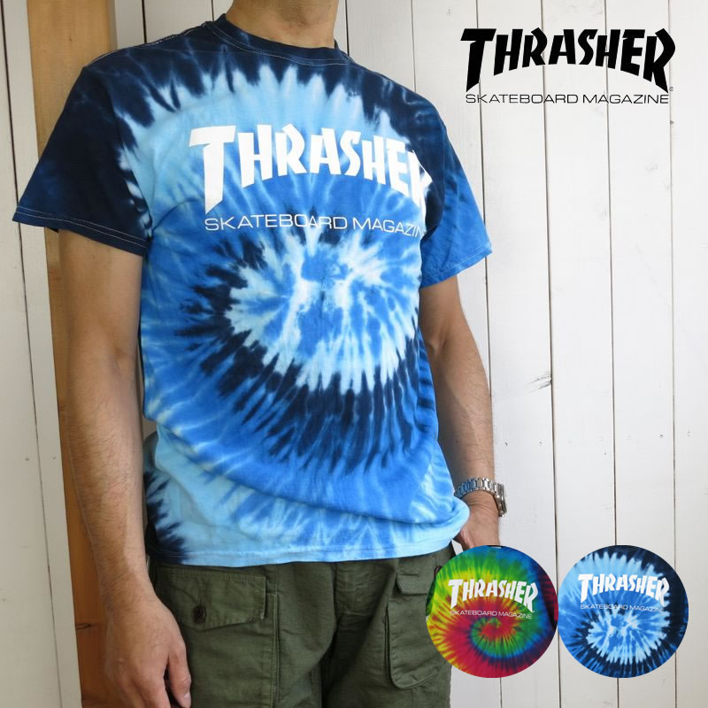 THRASHER A wearing model   man  172cm 65kg product color  REACTIVE  RAINBOW WHITE Msize wearing (just) 651ba7d5abac