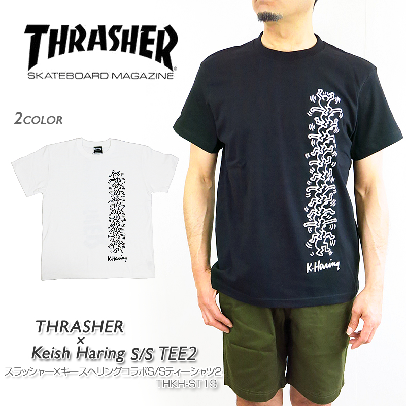 fdd72df63 It is a ring collaboration T-shirt to THRASHER slasher THKH-ST18 THRASHER X  ...