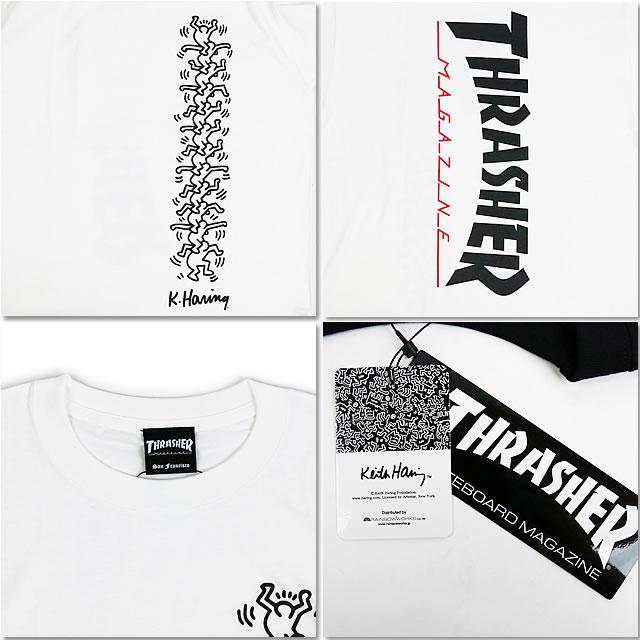 コラボ S T-shirt 2 THRASHER×KEITH Tシャツ 【サマーセール開催中】 【30%OFF!】 HARING S/ THRASHER スラッシャー キースへリング THKH-ST19