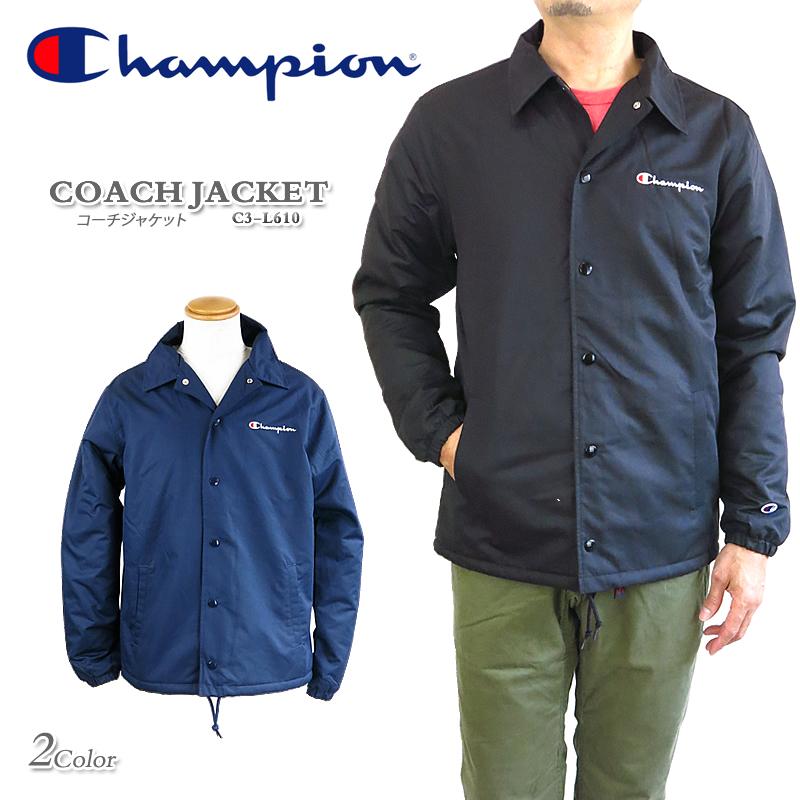 【NEW】チャンピオン コーチジャケット Champion COACH JACKET C3-L610 裏ボア メンズ
