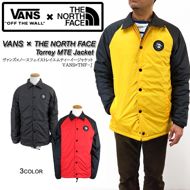 【SALE!】VANS x THE NORTH FACE コラボ コーチジャケット ヴァンズ バンズ ノースフェイス VANS×TNF TORREY MTE ジャケット 防水 ストリート