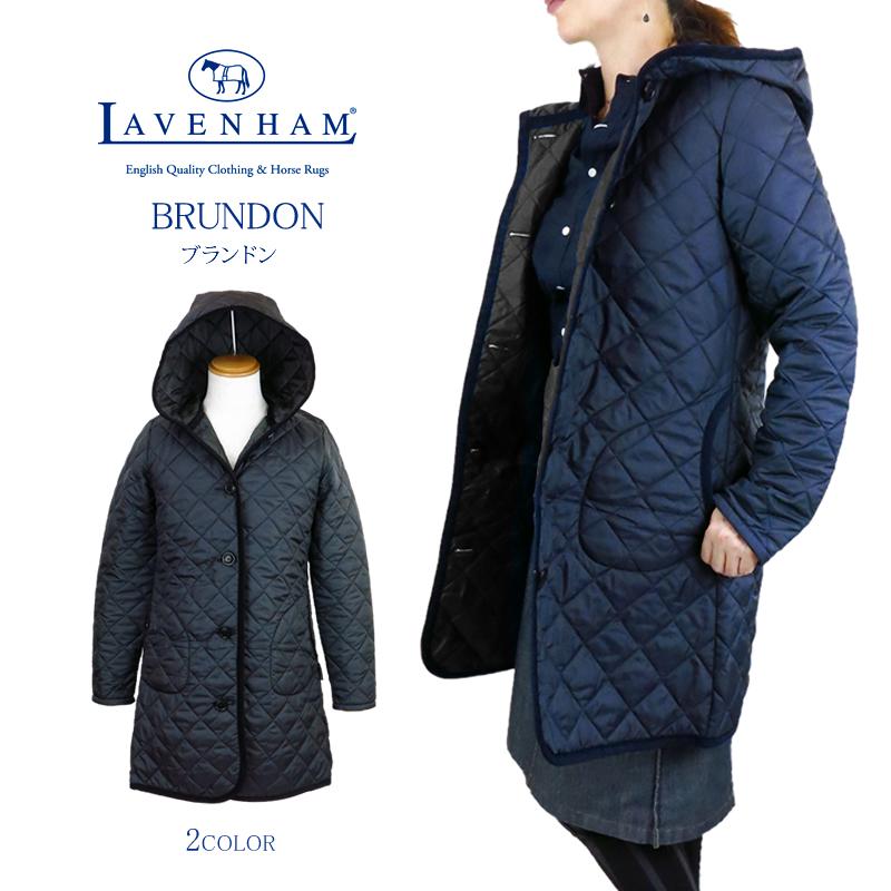 【NEW】LAVENHAM ラベンハム BRUNDON ブランドン キルティング ロング コート フーディ フード ジャケット ラヴェンハム Ladies' Lady's レディース