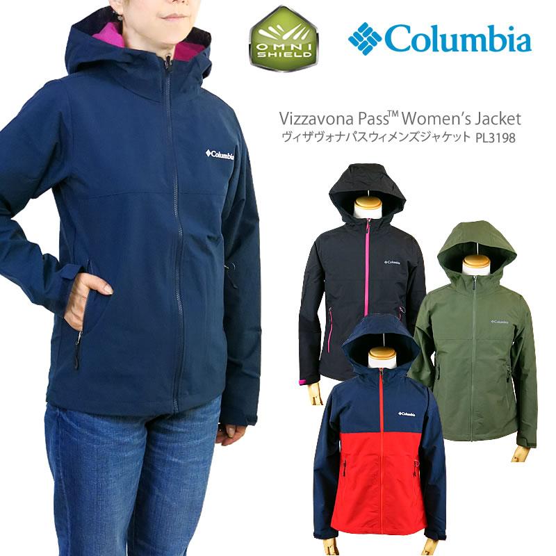 low priced 2a965 ed1eb Columbian jacket mountain parka COLUMBIA PL3069 VIZZAVONA PASS WOMEN'S  JACKET レディースヴィザヴォナパスジャケットレインウェア