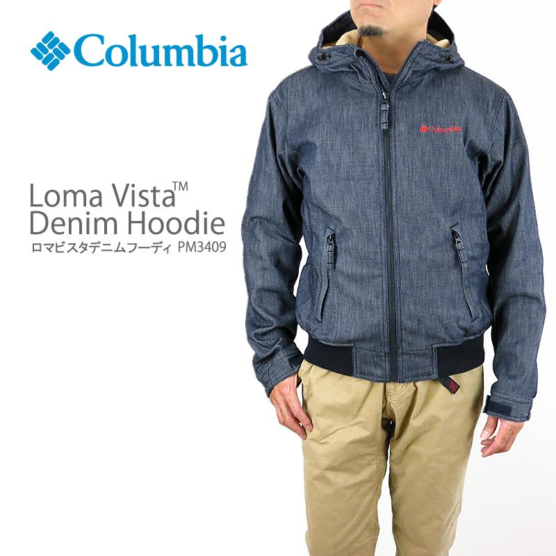 【NEW】コロンビア ジャケット マウンテンパーカー COLUMBIA LOMA VISTA DENIM HOODIE PM3409 ロマビスタ デニム ロマビスタフーディー フリース DOCTOR DENIM HONZAWA コラボカラー