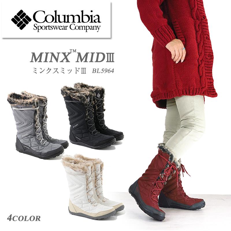 【NEW】コロンビア ブーツ スノーブーツ COLUMBIA MINX MID III BL5964 ミンクスミッド 3 レディース 防水 透湿