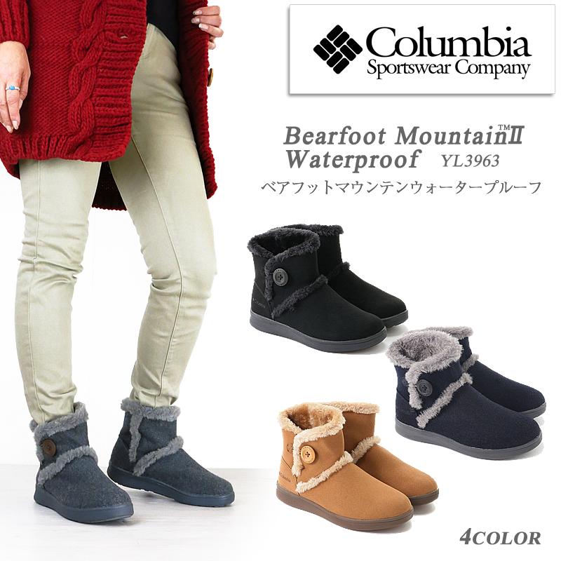 【NEW】コロンビア ブーツ スノーブーツ COLUMBIA YL3963 ベアフットマウンテン2ウォータープルーフ レディース ムートン 防水