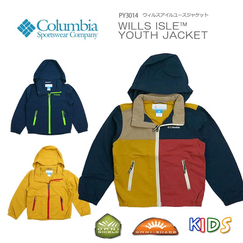 【20%OFF!】コロンビア ジャケット マウンテンパーカー キッズ COLUMBIA PY3014 WILLS ISLE YOUTH JACKET ウィルスアイル ユース ジャケット アウター レインウェア