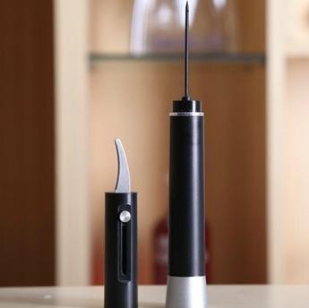 ワインオープナー エアーポンプ式 ブラック 簡単 コルク抜き 栓抜き 便利 おしゃれ ワイン コルク オープナー ボトル キッチン プレゼント ギフト 贈り物 キャップ 便利アイテム