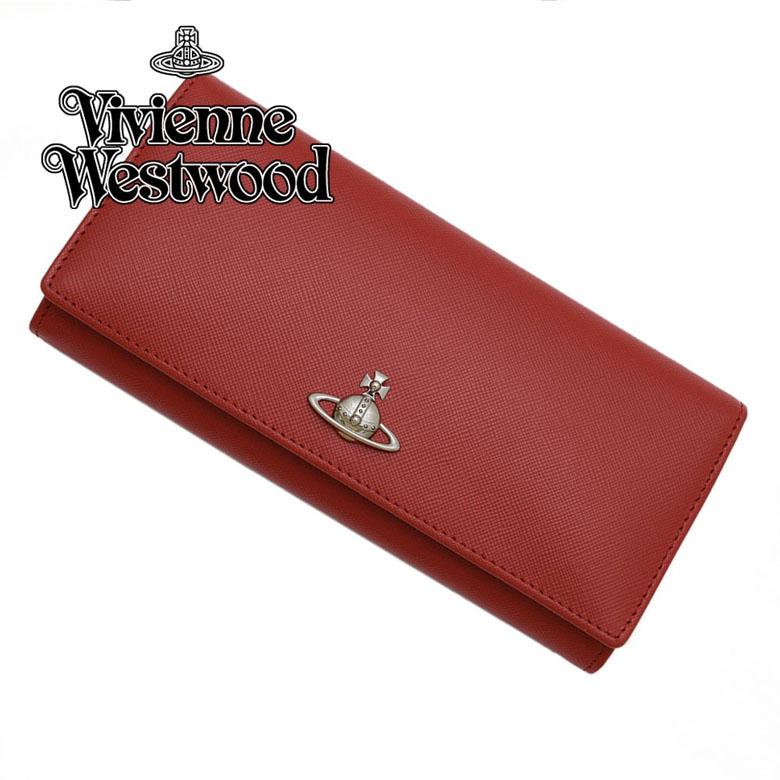 ヴィヴィアンウェストウッド Vivienne Westwood 小銭入れ付 サイフ 長財布 [51120005-40187-H402/RED]