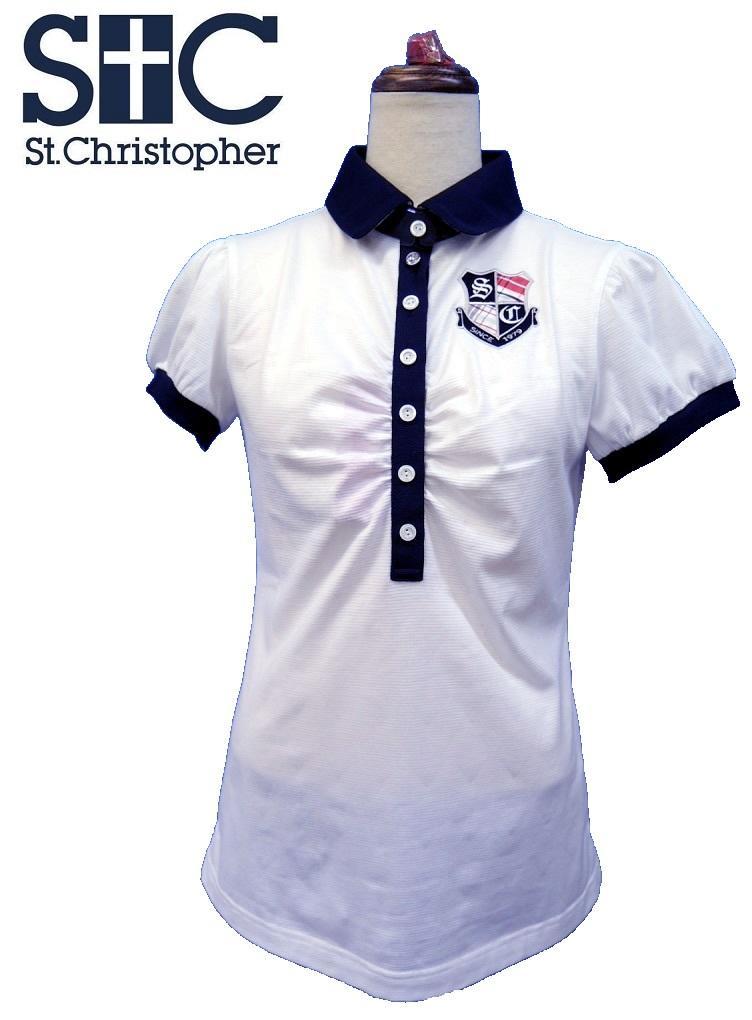 【2014年春夏】セントクリストファー(St.Christopher) レディース 薄手生地 吸汗速乾 半袖シャツ TL26100 ホワイト Sサイズ