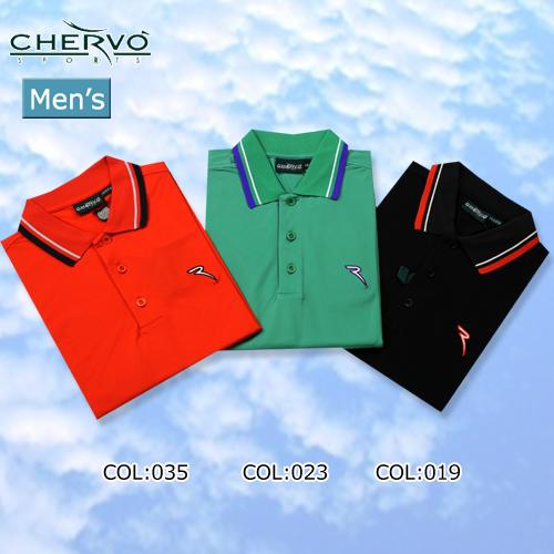 【CHERVO】シェルボ031-23445 メンズ 半袖 ポロシャツ