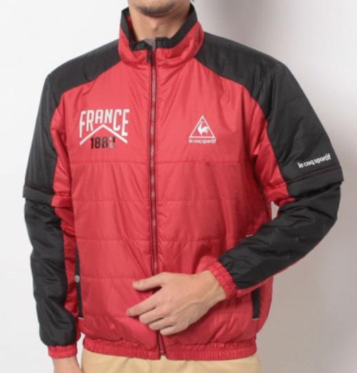 【2014年秋冬】le coq sportif(ルコックスポルティフ)メンズ ウィンドジャケット QG6329 クリアレッド